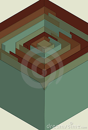 Stylized 3D maze