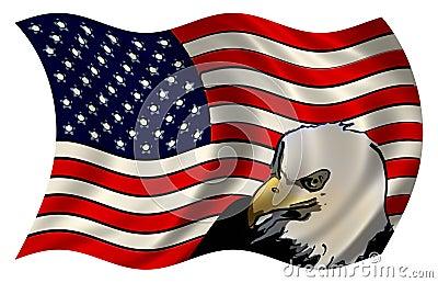 Stylized American Flag Eagle