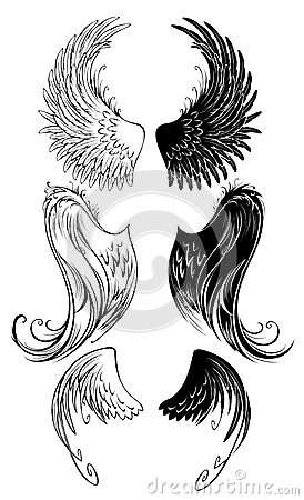 stylized angel wings royalty free stock image image