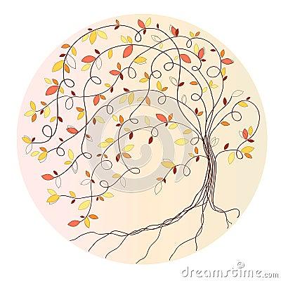 Free Stylized Autumn Tree Stock Images - 42977414