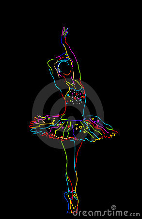 Stylized ballerina