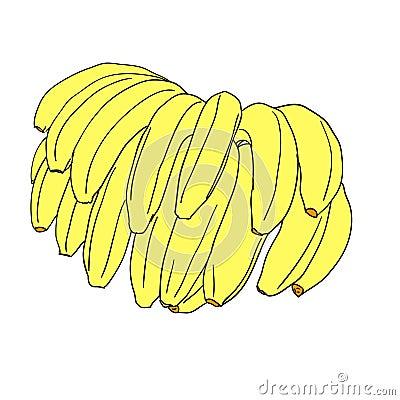 A  stylized bananas