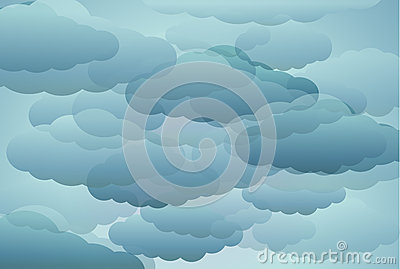 Stylized blue clouds