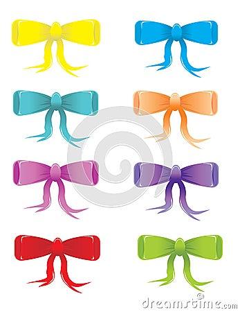Stylized bows som färgas