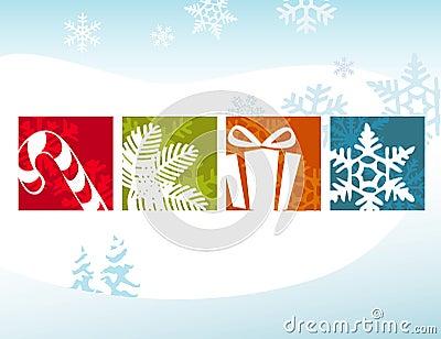 Stylized Christmas Icons