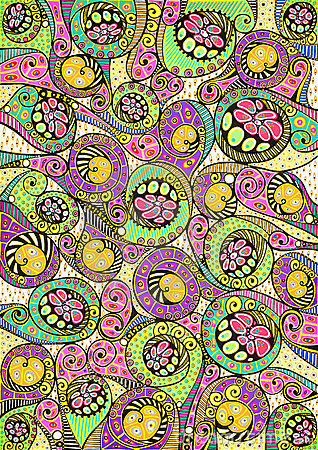 Stylized colorful natural pattern