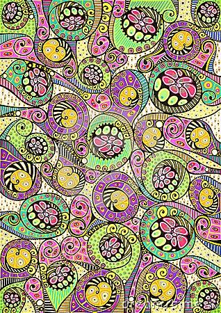 Stylized colorful natural pattern