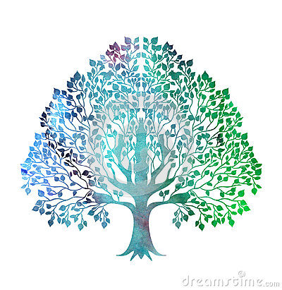 Free Stylized Colorful Tree Royalty Free Stock Image - 97887906