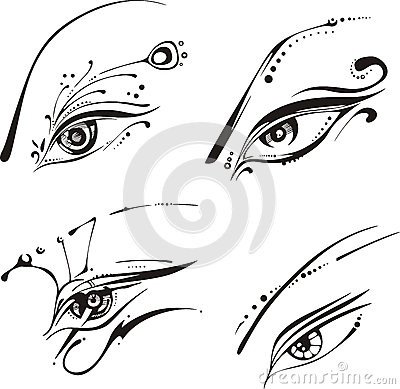 Stylized eyes