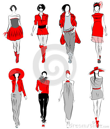 Stylized fashion models