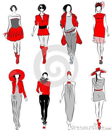 Stylized fashion models