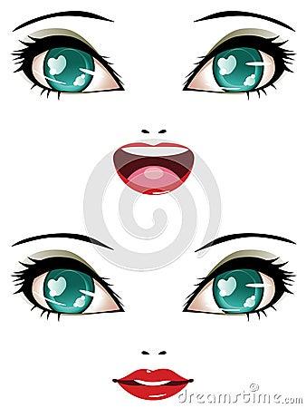 Stylized Female Face