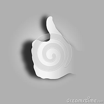 Stylized finger up