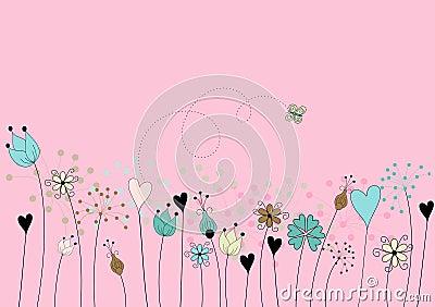 Stylized floral motive