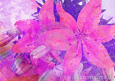 Stylized floral picture