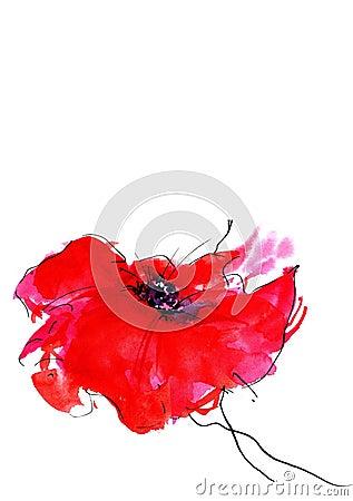 Free Stylized Flower Royalty Free Stock Photography - 5950167