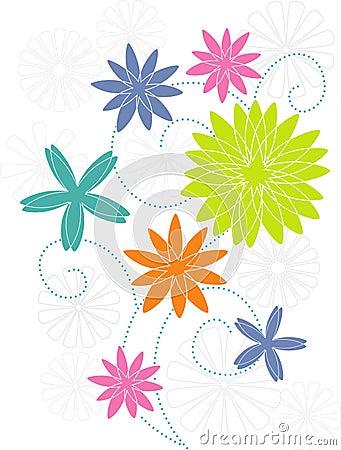 Stylized flower motif