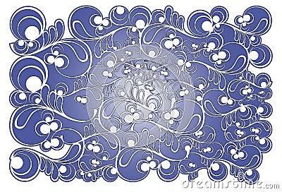 Stylized frosty pattern