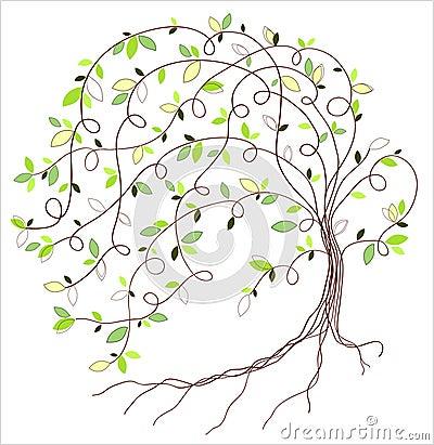 Free Stylized Green Tree Stock Image - 42977421