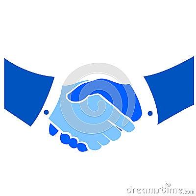 Stylized handshake vectorial