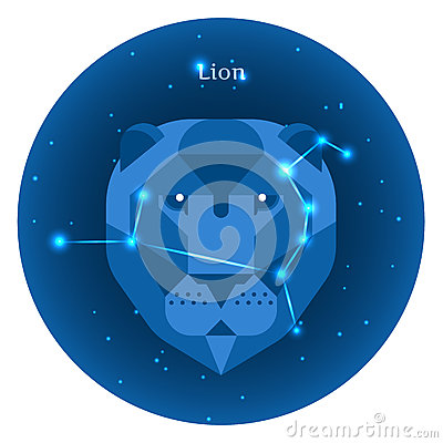 Free Stylized Icons Of Zodiac Signs In The Night Sky With Bright Stars Constellation In Front. Royalty Free Stock Images - 81007579