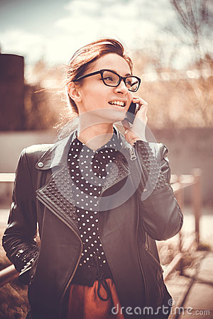 Free Stylized Instagram Colorized Vintage Fashion Portrait Of A Young Woman Wearing Glasses With Beauty Bokeh And Small Depth Of F Royalty Free Stock Image - 40208066