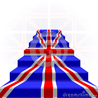 The stylized ladder. Flag of Great Britain
