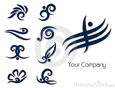 Stylized logo set