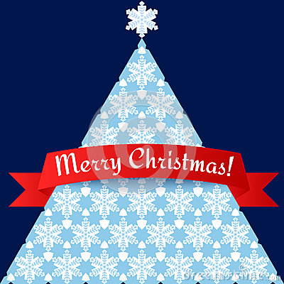 Stylized minimalistic Christmas tree card
