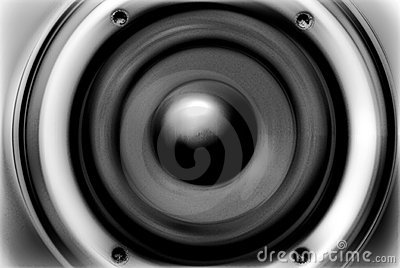 The stylized (musical speaker) image