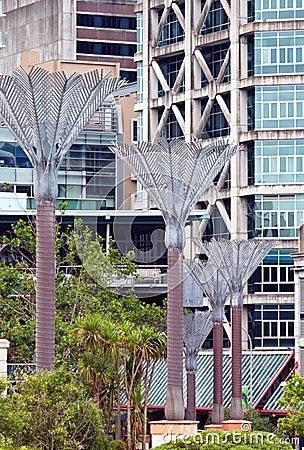 Stylized Nikau palms. Street Art. Wellington