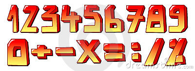 Stylized numbers