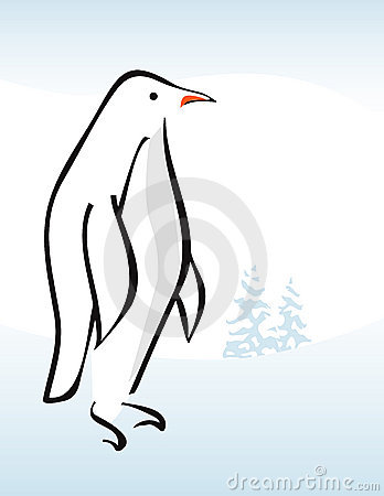 Stylized Penguin Icon