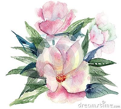 Stylized Pink flower