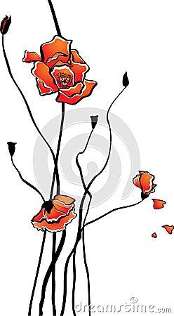 Stylized poppy