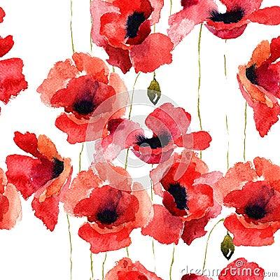 Free Stylized Poppy Flowers Illustration Stock Photo - 33303790