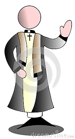 Stylized priest