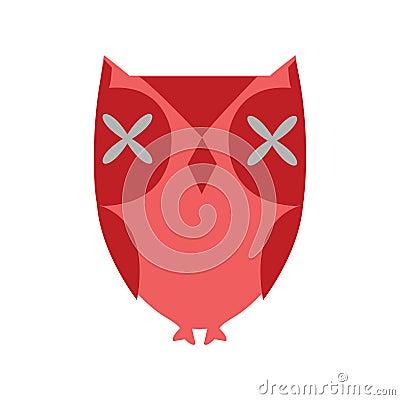 Stylized red owl