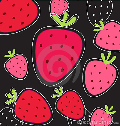 Stylized red strawberry texture