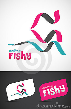 Stylized ribbon fish icon