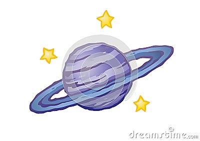 Stylized Ringed Planet