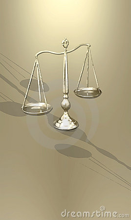 Stylized scales of justice