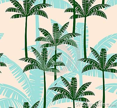 Free Stylized Seamless Pattern With Palm Tree. Stock Photos - 73030823