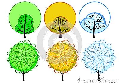 Stylized seasonal tree