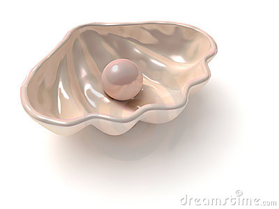 Stylized shell with pearl