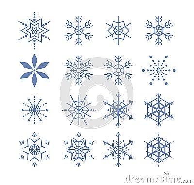 Stylized snowflakes