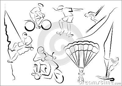Stylized sportsmen - extreme