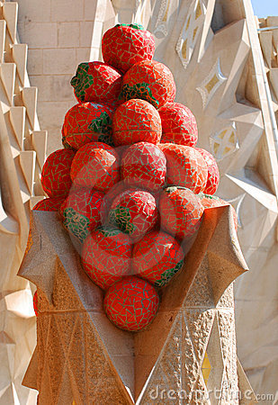 Stylized strawberries