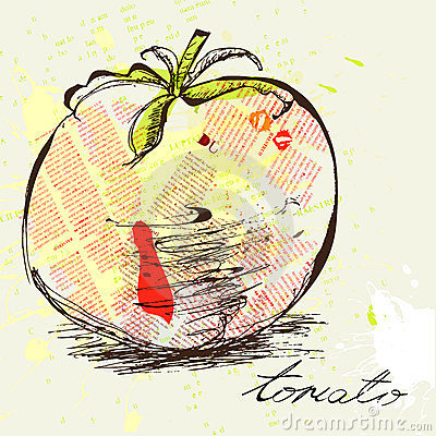 Stylized tomato