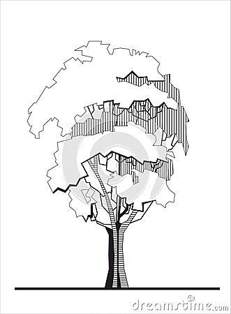 Stylized tree 1